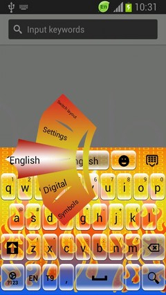 Digital Fire Keyboard