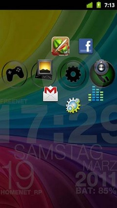 Circle Launcher light