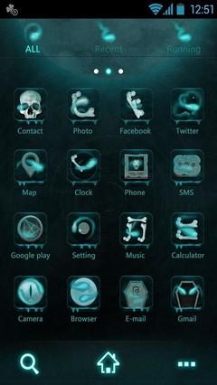 GO Launcher Skull Theme