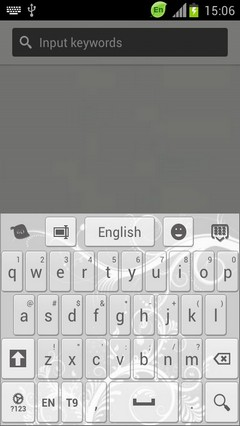 GO Keyboard White Color