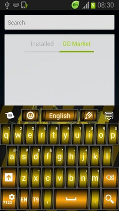Keyboard Black and Yellow