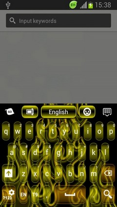 Neon Flame GO Keyboard Theme