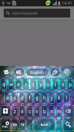 Neon Cool Fantasy Keyboard
