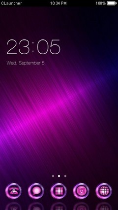 Dazzle Purple Theme