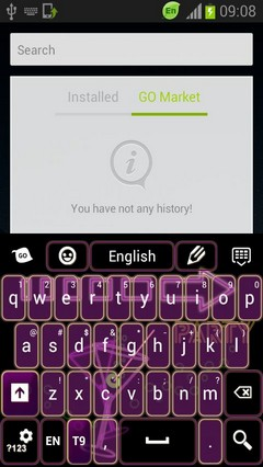 Keyboard Purple Neon
