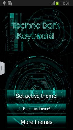 Techno Dark Keyboard Free
