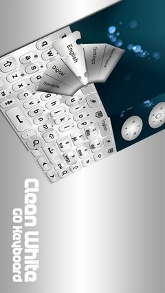 GO Keyboard Clean White