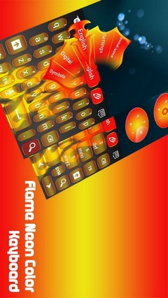 Flame Neon Color Keyboard