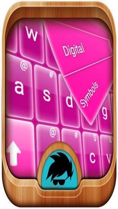GO Keyboard Pink Glow