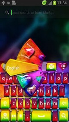 Rainbow Love Keyboard