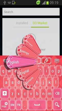 Diamonds Pink Keyboard