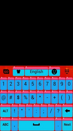 Beautiful Theme GO Keyboard