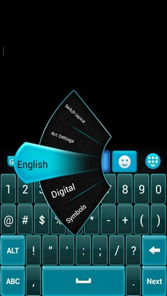 GO Keyboard Blue and Black
