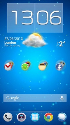 Bubbles Icon Launcher Android Clear Pack