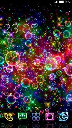 Rainbow Bubbles Clauncher theme