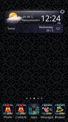 Black Background C Launcher Theme