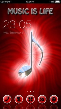 Music Is Life Clauncher Theme