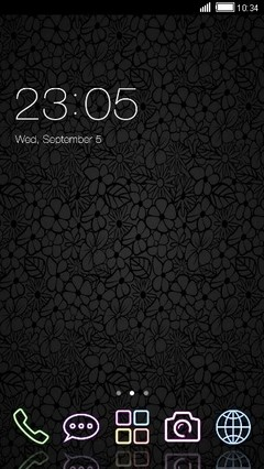 Just Black Clauncher Theme