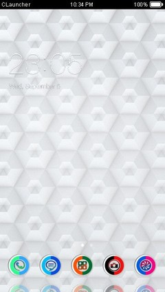 White Abstract Clauncher Theme
