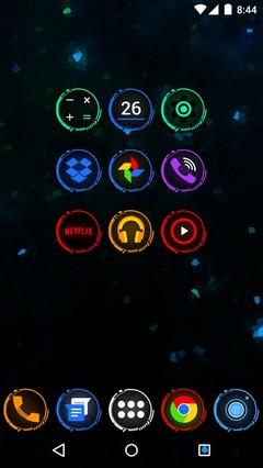 Neon Icon Pack Theme Go