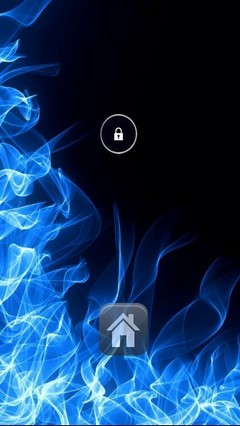 Blue Flames Lock Screen