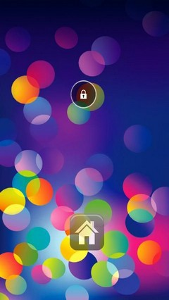 Bokeh Circle Lock Screen
