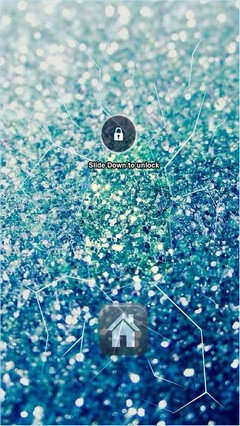Blue Glitter Lock Screen