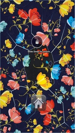 Floral Background Lock Screen