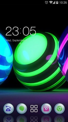 Glow Bright Balls CLauncher Theme