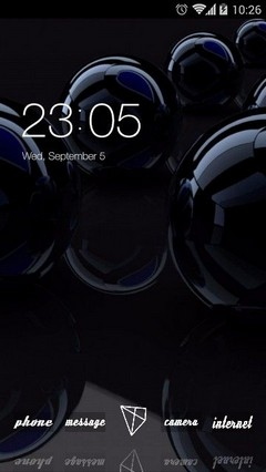 Black Reflection CLauncher Theme