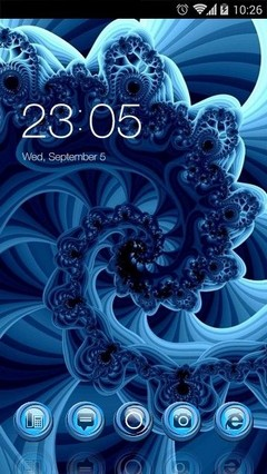 Blue Fractals CLauncher Theme