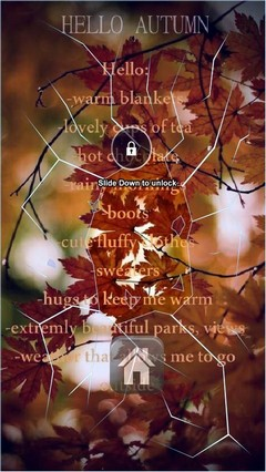 Autumn Poem Lock Screen