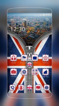 UK Flag Zip Theme