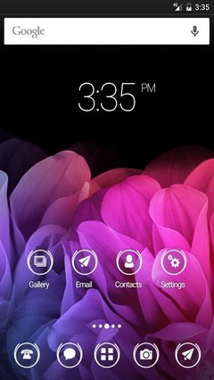 Colorful flowers HD Nova Launcher Theme