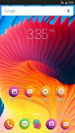 Fluid Spiral Waves Nova Launcher Theme