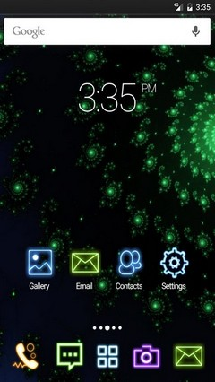 Green spiral abstract ADW Launcher Theme