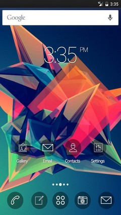 Solid abstract colors GO Launcher Theme