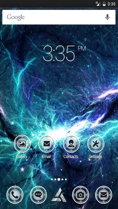 Thor space nebula Nova Launcher Theme