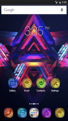 Abstract pyramids Apex Launcher Theme
