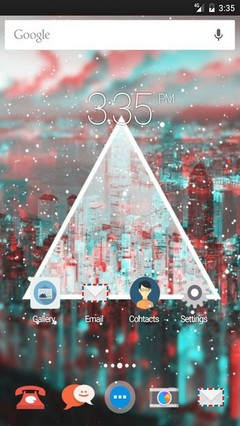 Triangle light blurred GO Launcher Theme