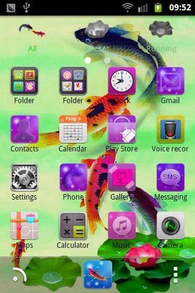 Fish GO Launcher EX Theme