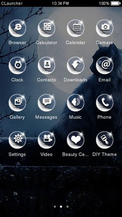 Black Cat Clauncher Theme