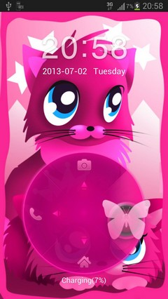 Pink cats theme 4 GO Locker-1