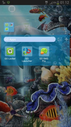 GO Launcher Theme Water Fish-1