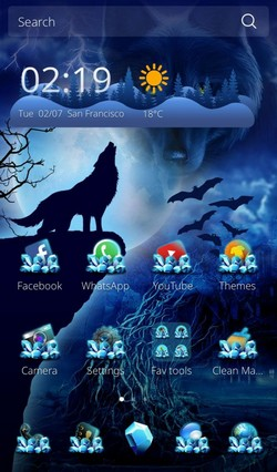 Wild Wolf Android Theme