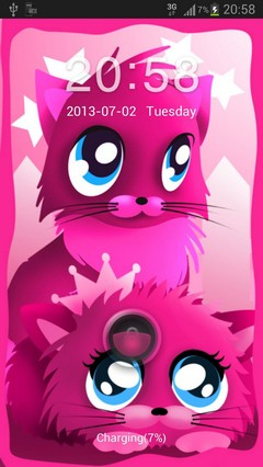 Pink cats theme 4 GO Locker-1