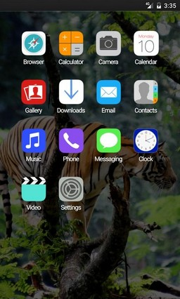 Bengal tiger in jungle GO Launcher Theme