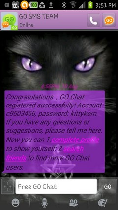 wiccan cat go sms