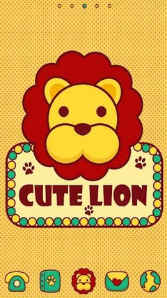 Cute Lion GO LauncherEX Theme