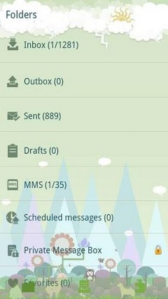 GO SMS Pro Forest Zoo theme